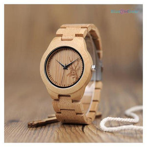 "<span style=""color:#990000;"">⌚</span> Elk Deer Design Bamboo Watch - BluebirdGear™"