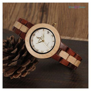 "<span style=""color:#990000;"">⌚</span> Fashion Wooden Watch - BluebirdGear™"