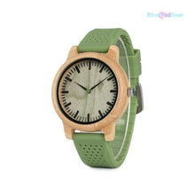 "<span style=""color:#990000;"">⌚</span> Luxury Bamboo Silicone Watch - BluebirdGear™"