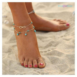 "<span style=""color:#990000;"">💗</span> Double Layer Design Anklet - BluebirdGear™"