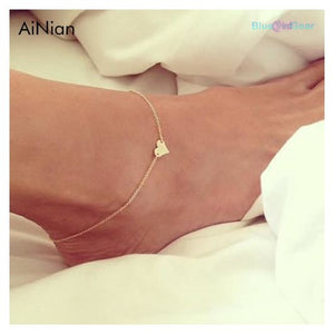 "<span style=""color:#990000;"">💗</span> Heart Female Anklet - BluebirdGear™"