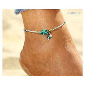 "<span style=""color:#990000;"">💗</span> Shell Beads Starfish Fashion Anklet - BluebirdGear™"