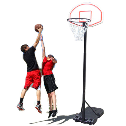 Adjustable Basketball Hoop System Stand Children Kid Indoor Outdoor Net Goal / Wheels Ring in Height from 1.65m to 2.05m