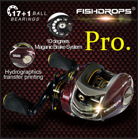 FISHDROPS BC150 18BB Left/Right Hand FishingReel with One Way Clutch