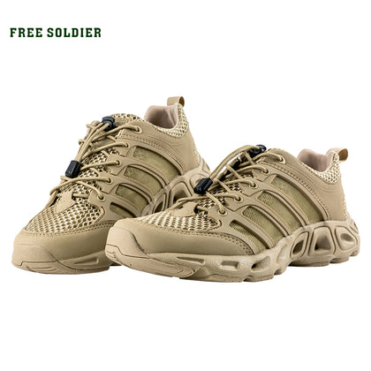 SOLDIER Outdoor Sports Camping shoes for Men Tactical Hiking Breathable Waterproof Coating