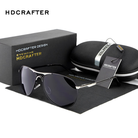 HDCRAFTER Brand Designer Polarized Sunglasses UV400 Protection