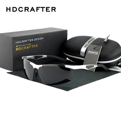 HDCRAFTER Brand New Fashion Sunglasses Rimless Rectangle Polarized