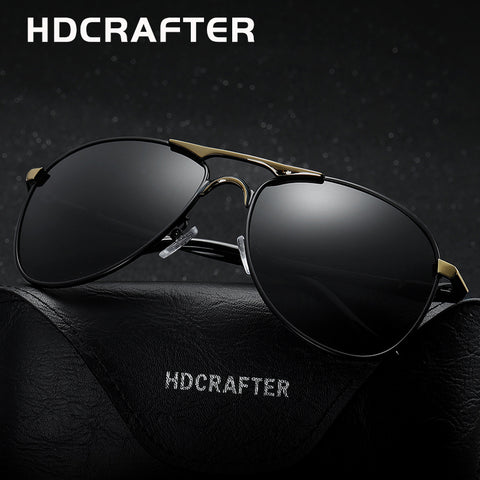 HDCRAFTER High Quality Brand Designer Cool Sunglasses Polarized 100%UV Protection