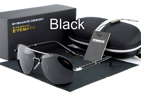 HDCRAFTER High quality Fashion Driving Sunglasses 100% Polarized Aluminum Alloy Frame