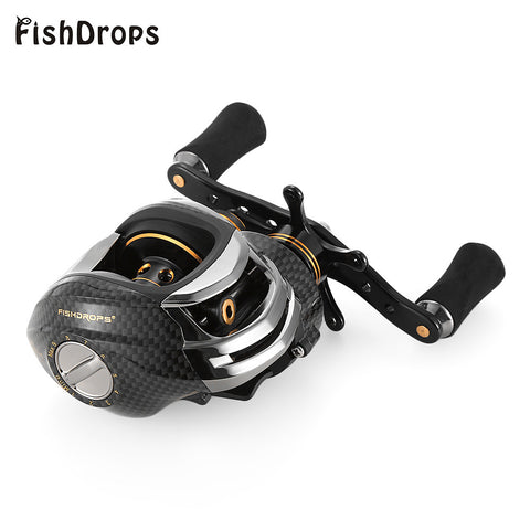 FISHDROPS LB200 Baitcasting Reel 18 Ball Bearings Left/Right Hand Bait Casting
