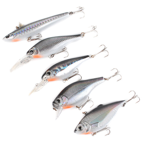 Lot 5 Fishing Lure Hard Crank Baits Tackle Hooks Sinking Lipless Bass Pike Trout Assorted Tackle Box