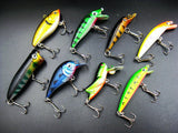 New 30pcs Kinds of Fishing Lures Crankbaits Hooks jigging Lure Assorted Tackle Set Artificia Wobbler Carp Fly Fishing Baits