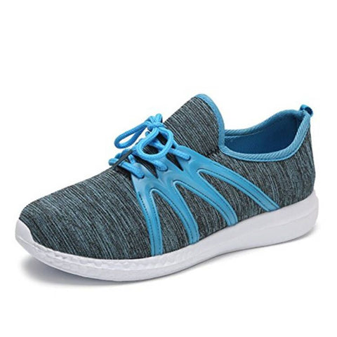 New arrival women outdoor sneakers women walking shoes sport shoes  women Fabric lace up breathable Anti Slippery shoes