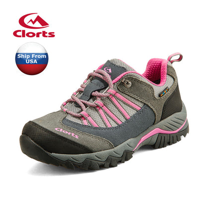 2018 Clorts Womens Walking Shoes Waterproof Outdoor Sports Shoes Cow Suede For Female HKL-831C/D