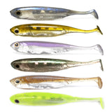 YOSHIKAWA Soft Plastic Lure Bait Bass Winter Fishing Shiner Trout Swimbaits  Lot 6 12