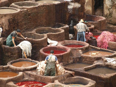 people working in leather industry