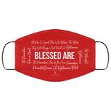 Beatitudes Face Mask Red