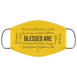 Beatitudes Face Mask Yellow