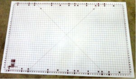 "Super-size Cutting Mat with Grid - 55"" x 32"" Grid"