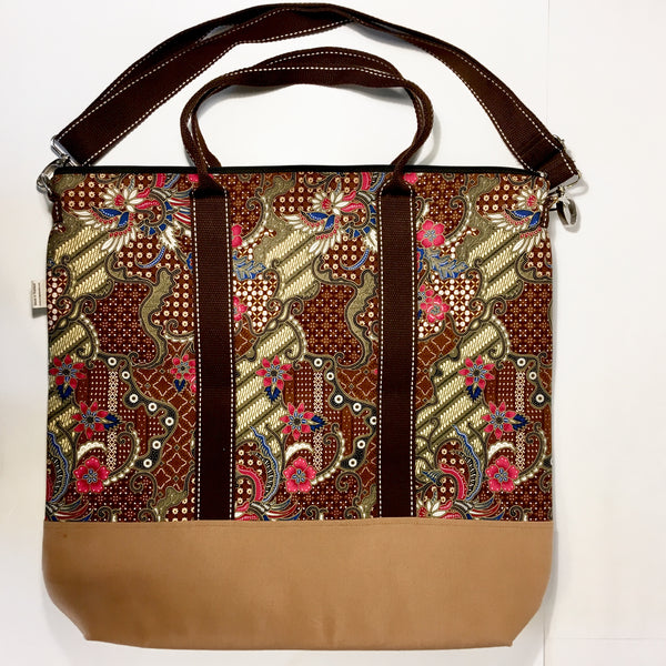 Cotton Batik 2 Tone Project Bag - Very Large