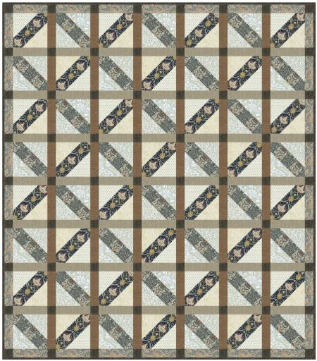 "Alluring - Quilt Top Kit - 72""x82"" - Intermediate"