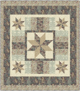 "Standen Stars Plum Quilt  - Quilt Top Kit - 72"" x 82"" - Intermediate"