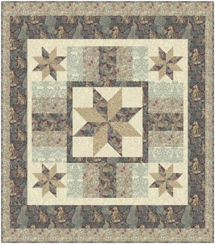 Standen Stars Plum Quilt  - Quilt Top Kit