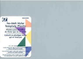 No Melt Clear Mylar Template Plastic