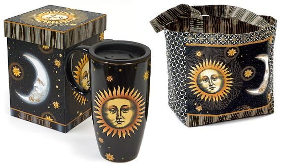 Celestial Travel Mug with Lunch-Tote Panel by Jason Yenter