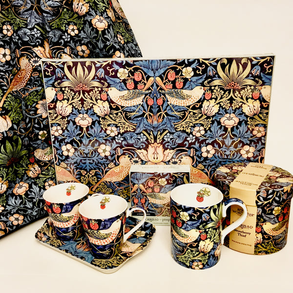 William Morris Mug in Gift Box -  Strawberry Thief - Blue