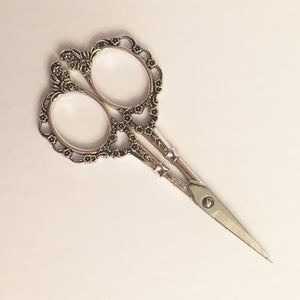"European Classic Flower Scissors - 4 1/4"" - Silver"