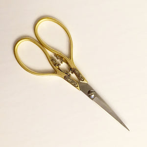 "European Classic Scroll Scissors - 4 1/4"" - Gold"