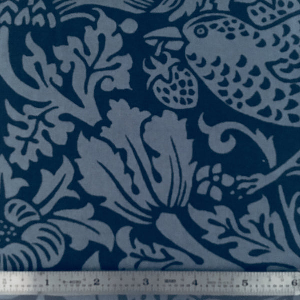 "Strawberry Thief 108"" Backing - Navy"