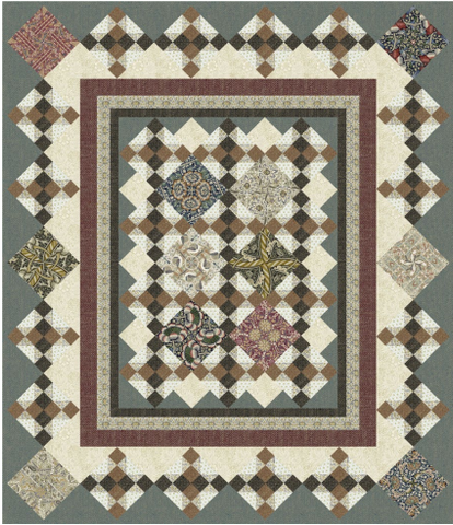"Framed Elegance - Quilt Top Kit - 51 1/2"" x 60"" - Intermediate"