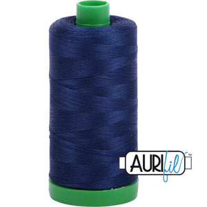 Aurifil Cotton 40wt Thread - 1000 mt - 2784 - Dark Navy