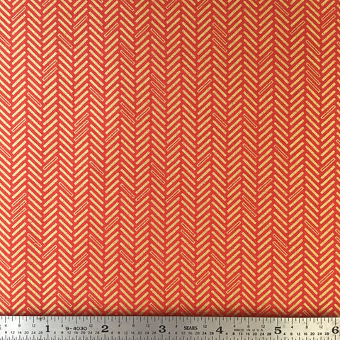Jubilee Metallic - Herringbone - Red