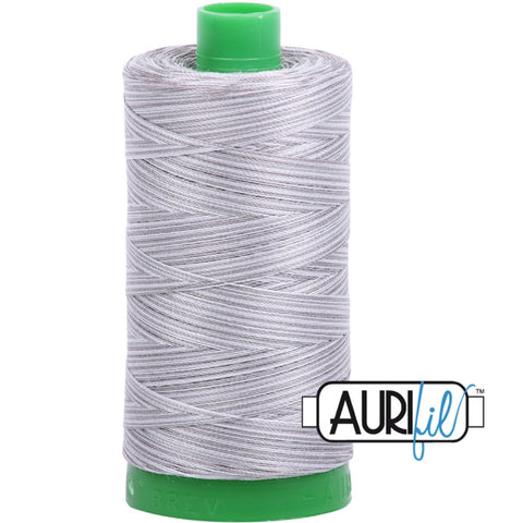 Aurifil Cotton 40wt Thread - 1000 mt - 4670 - Silver Fox