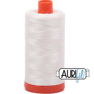 Aurifil Cotton 50wt Thread - 1300 mt - 2026 - Chalk