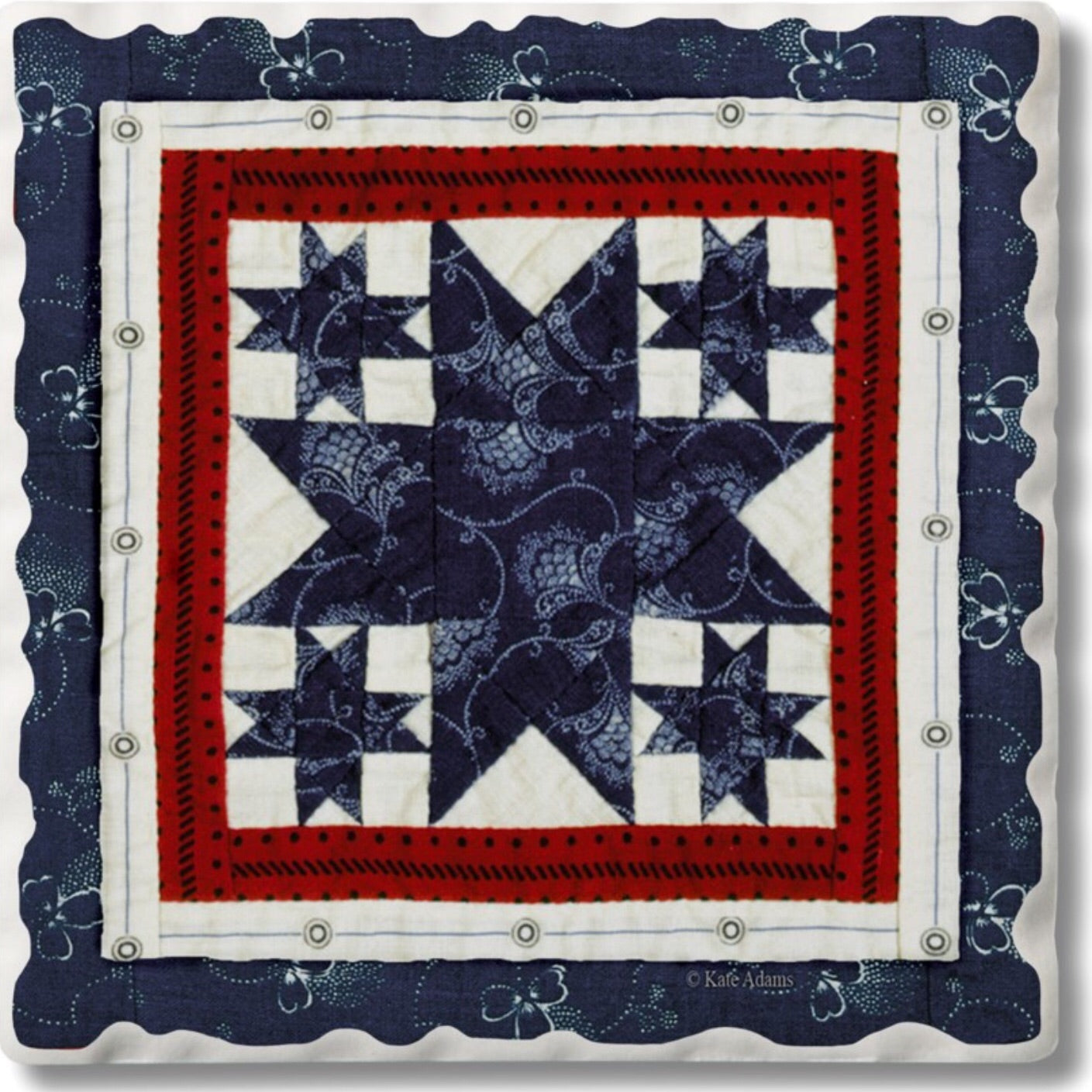 Absorbent Stone Coaster - Quilt 10