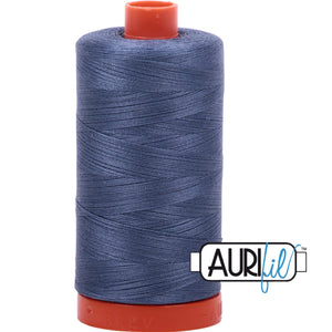 Aurifil Cotton 50wt Thread - 1300 mt - 1248 - Dark Grey Blue
