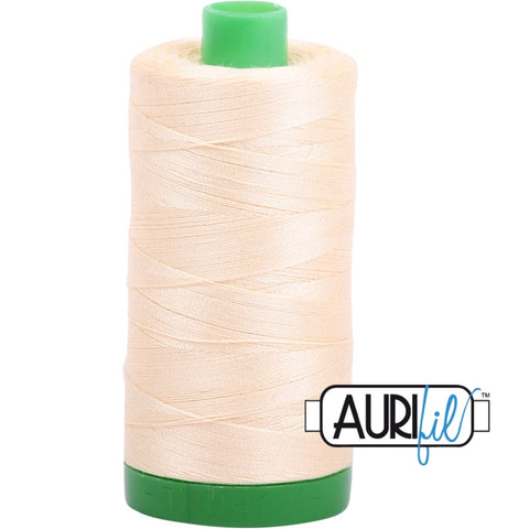 Aurifil Cotton 40wt Thread - 1000 mt - 2123 -Butter