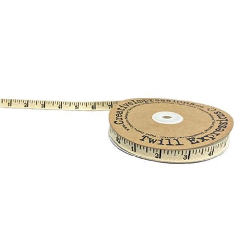 "Antique Ruler Twill Tape - 1/2"" (22mm)"