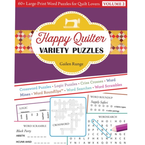 Happy Quilter Variety Puzzles - Volume 2