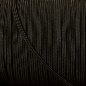 "Elastic - Black - 1/8"" (3mm)"