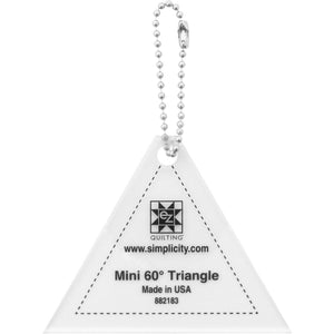 Mini Triangle 60 Acrylic Tool - Keychain
