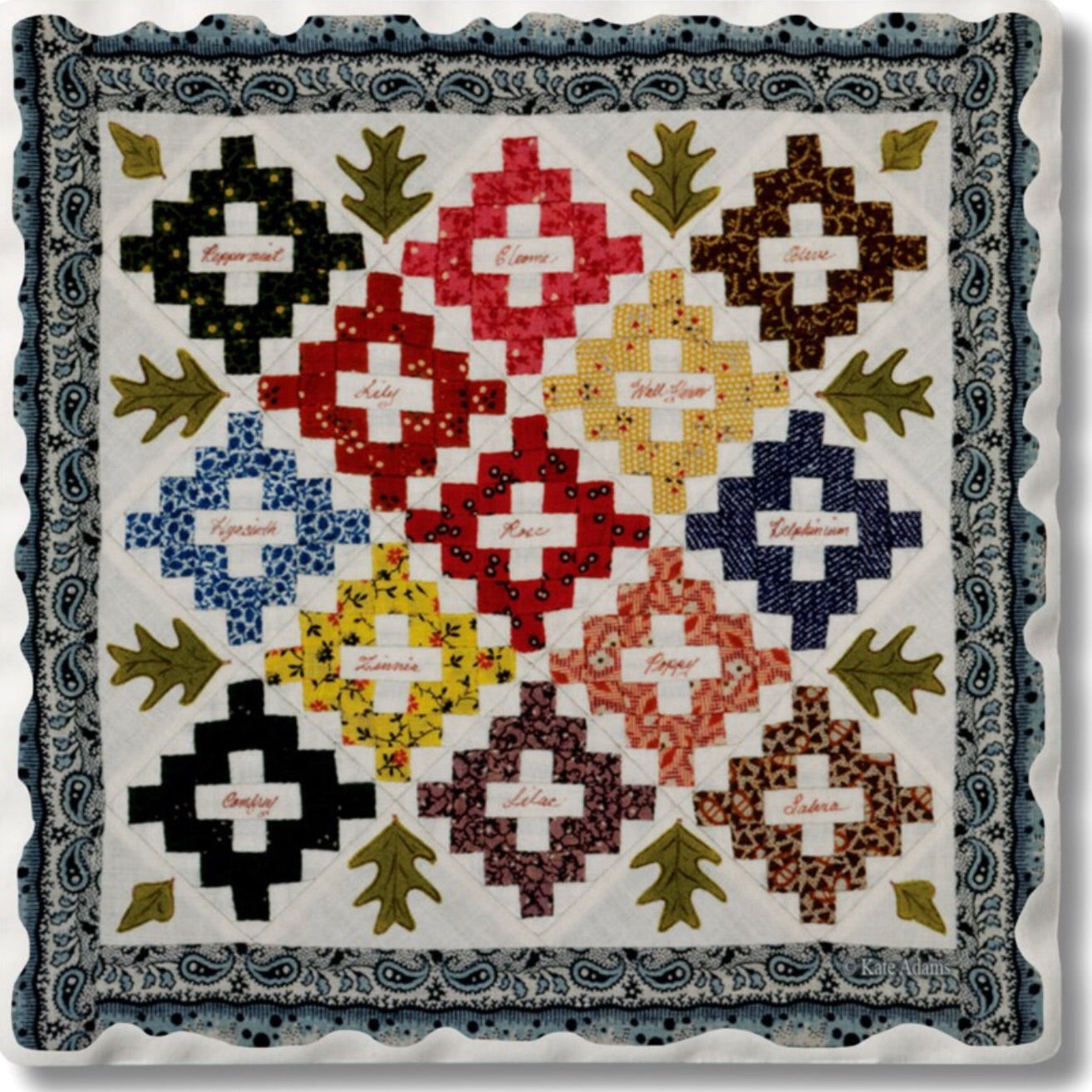 Absorbent Stone Coaster - Quilt 11