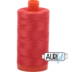 Aurifil Cotton 50wt Thread - 1300 mt - 2277 - Light Red Orange