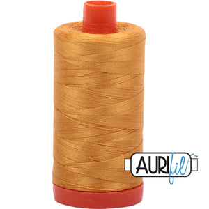 Aurifil Cotton 50wt Thread - 1300 mt - 2140 - Orange Mustard