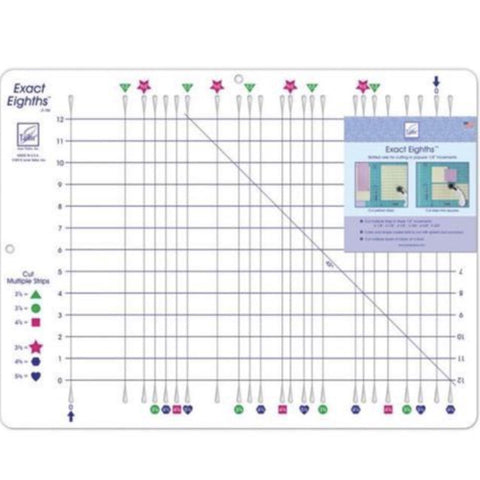 "Exact Eighths Slotted Ruler - 22"" x 16.5"""
