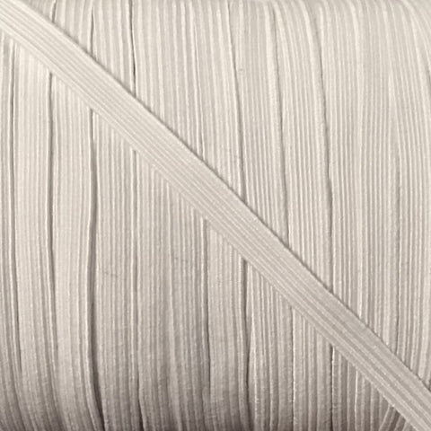 "Elastic - White - 1/4"" (6mm)"